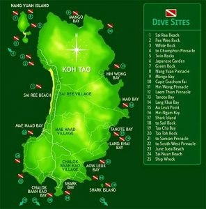 dive sites Koh Tao ScubaCenterAsia