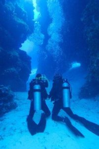 The swim through at Cozumel