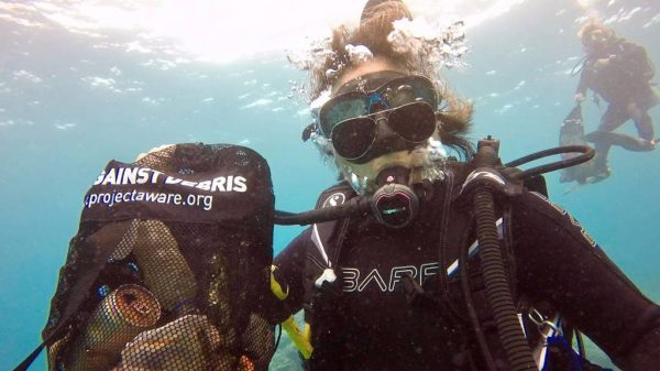 aware clean up dive scuba center asia