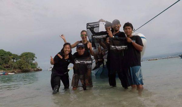 before clean up dive lembongan