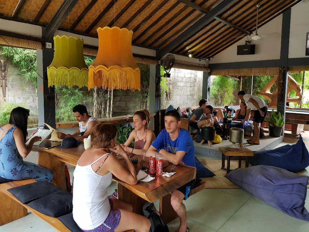 The BAR Next Door lunch mushroom beach lembongan