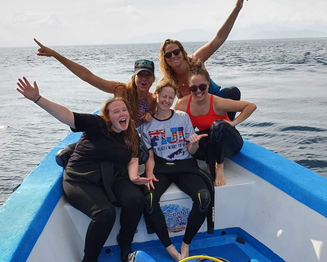 Diving is fun! Female divers often find boat diving easier than shore diving as gear is not optimized for their bodies